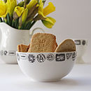 Illustrated Biscuit Sugar Bowl