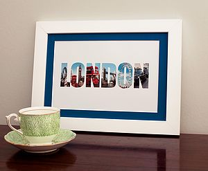 'London' In Photographs Print - gifts for grandparents