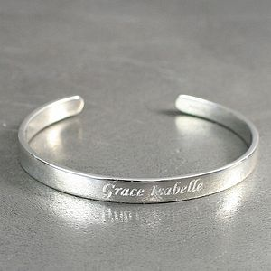 Personalised Child's Silver Bracelet - children's jewellery