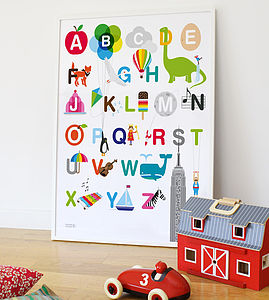 Alphabet Print - paintings & canvases