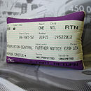 SALE! British Royal Train Ticket Cushion