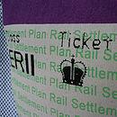 SALE! British Royal Train Ticket Cushion