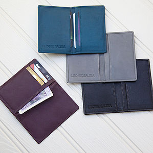 Leather Credit Card Case - bags, purses & wallets