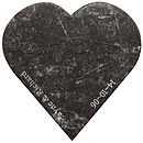 Personalised Marble Heart Serving Board