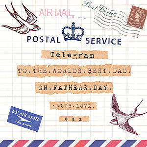 Father's Day Telegram Card - seasonal cards