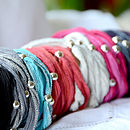 Silk And Silver Bracelet 10% Discount