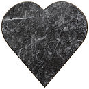 Marble Heart Board. Dark Or Cream Colour