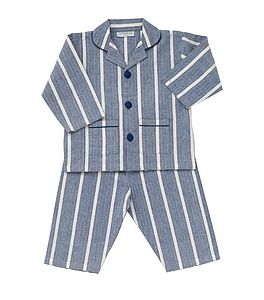 Blue Stripe Pyjamas - clothing