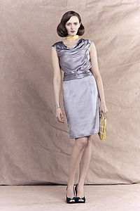 Evelyn Silk Drape Dress