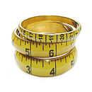 Mustard Tape Measure Bangle