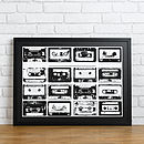 Personalised Mix Tape Playlist Print