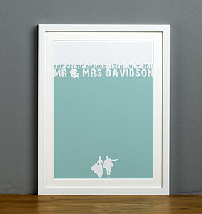 Personalised 'Your Words' Silhouette Print