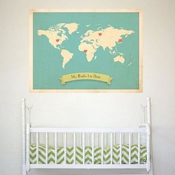 'My Roots Lie Here' Map Print