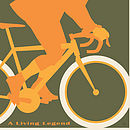 cycling print King of the Road.Olive.type detail