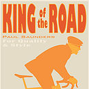 cycling print King of the Road. Name detail.Cool Sand