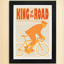 cycling print King of the Road. Cool Sand