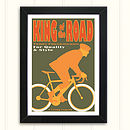 Personalised Men's Cycling Print: King Of The Road