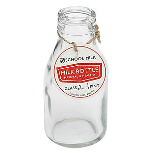 School Milk Bottle - table decorations