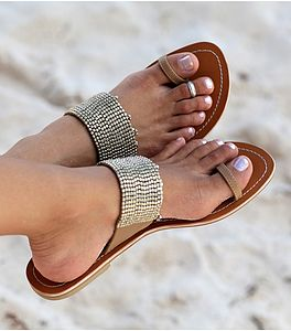 Luna Beaded Sandals - holiday shop