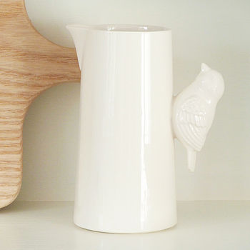 Ceramic Bird Milk Jug