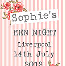 floral stripe hen night