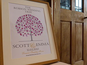 Personalised Fingerprint Wedding Tree - shop by price