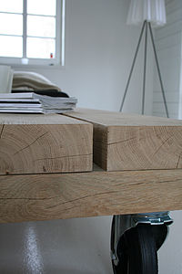 Solid Oak Coffee Table - furniture delivered for christmas