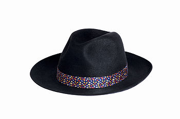 Black Fur Felt Fedora
