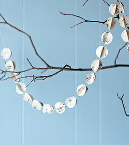 Handmade Vintage Music Garland - home accessories