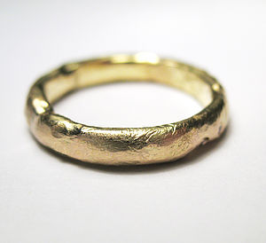 Gold Organic Ring - women's jewellery