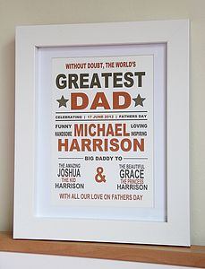 'Greatest Dad' Print