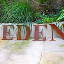 Vintage Style Rusted Metal Letter Or Number