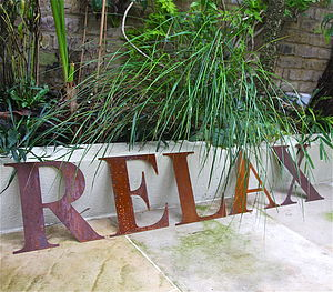 Vintage Style Rusted Metal Letter - living & decorating
