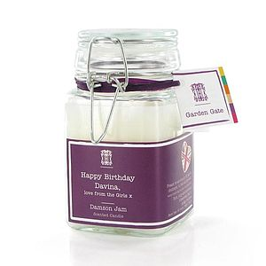 Personalised Foodie Scented Candle