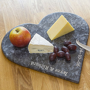 Personalised Marble Heart Board - personalised wedding gifts
