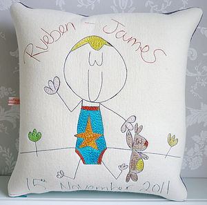 Personalised New Baby Or Christening Cushion - bedroom