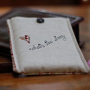 Handmade Linen And Liberty Print Kindle Case