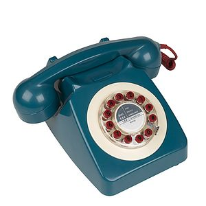 Retro 1960s Blue Telephone