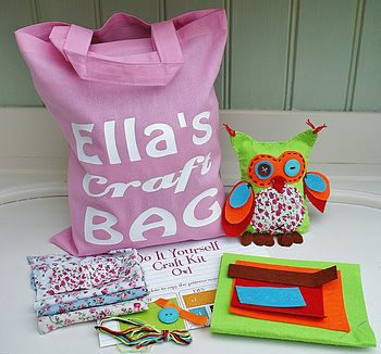 Oscar Owl Craft Kit And Personalised Bag