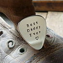 'Best Daddy' Guitar Plectrum And Key Ring
