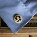 Chocolate on Beige Alpha Omega Cufflinks