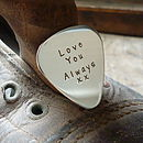 'Love You Always' Guitar Pick And Key Ring