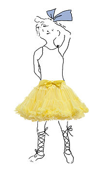 Yellow Tutu Frilly Petticoat