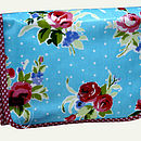 Vintage Inspired Oilcloth Wash Bag