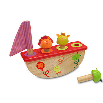 Pop Up Rocking Boat Gift Wrapped