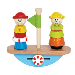 Balance Boat - Educational Wooden Toy - traditional toys & games