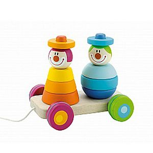 Clowns Stacking Pull Along Toy - push & pull along toys