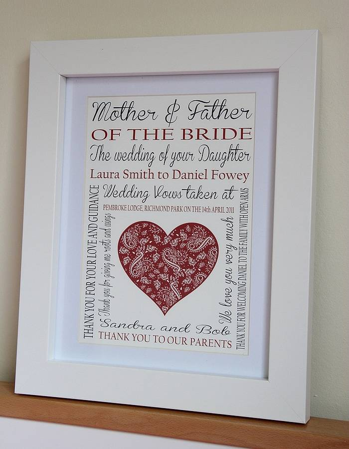 Wedding Gift From Brides Parents To The Bride And Groom : ... > LISA MARIE DESIGNS > MOTHER OF THE BRIDE/GROOM WEDDING PRINT