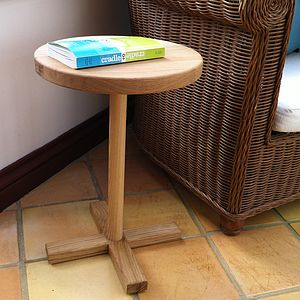 O's And X's Oak Side Table - bedroom