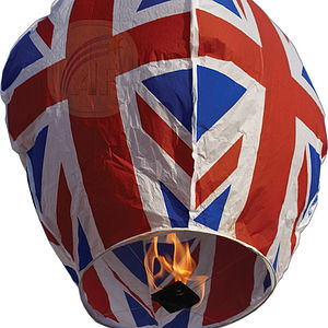 Union Jack Sky Lantern - lights & lanterns